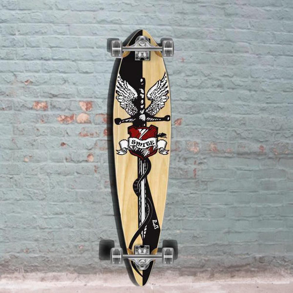 Smite Pintail Longboard 40 inch from Punked - Complete - Longboards USA