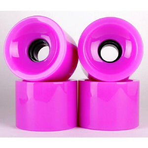 Solid Purple 70mm Gel Soft Longboard Wheels - Longboards USA