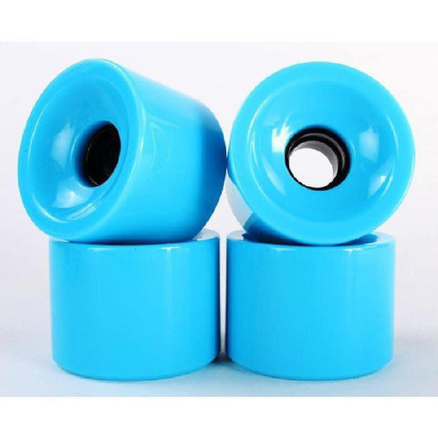 Solid Sky Blue 70mm Gel Soft Longboard Wheels - Longboards USA