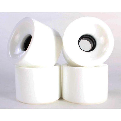 Solid White 70mm Gel Soft Longboard Wheels - Longboards USA