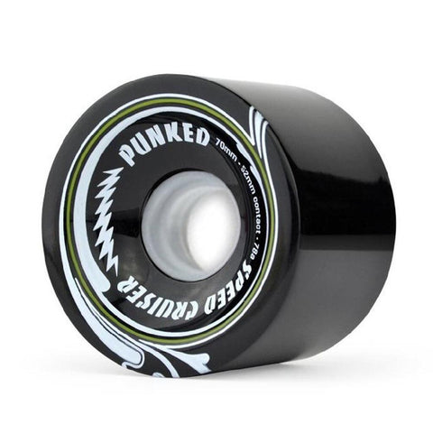 Speed Cruiser 70mm Longboard Wheels - Solid Black - Longboards USA