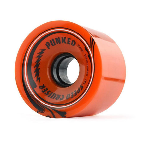 Speed Cruiser 70mm Longboard Wheels - Solid Orange - Longboards USA