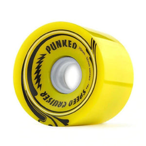 Speed Cruiser 70mm Longboard Wheels - Solid Yellow - Longboards USA