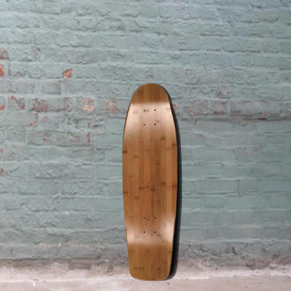 "Square Tail Bamboo Cruiser Skateboard 28"" x 8.25"" - Deck - Longboards USA"
