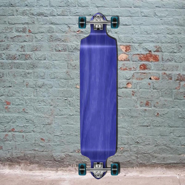 "Stained Blue Blank Drop Down 41"" Longboard - Longboards USA"