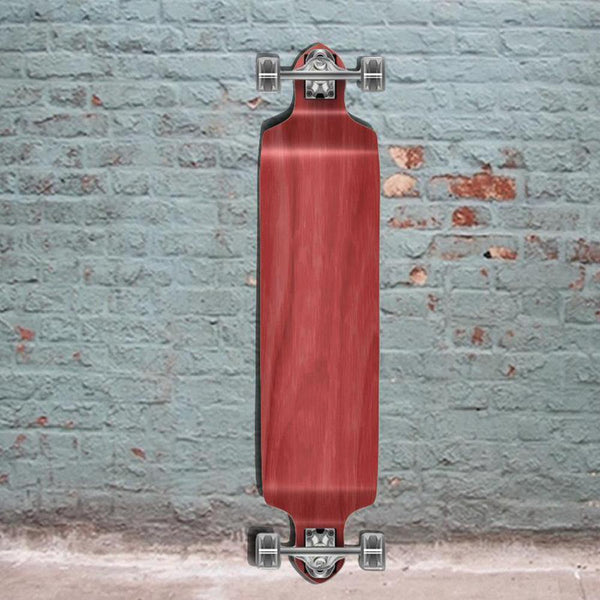 "Stained Red Drop Down 41"" Blank Longboard - Longboards USA"