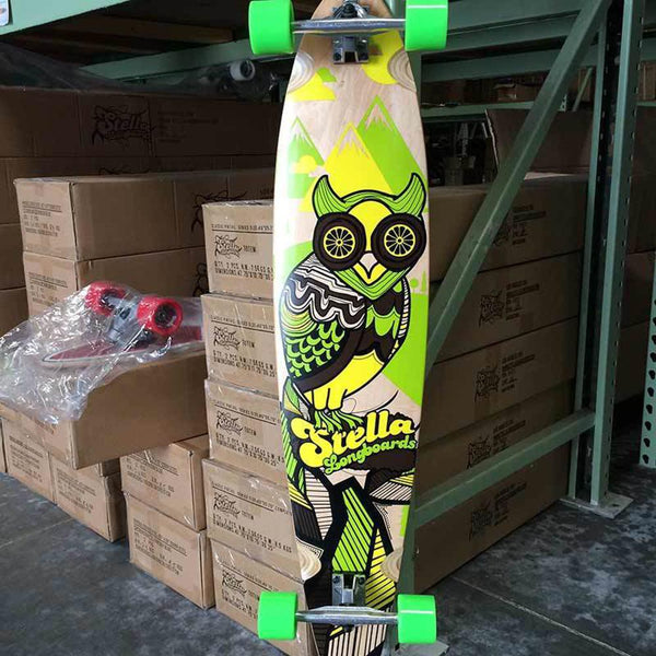 Stella Owl Pintail Longboard 46 inch - Complete-Longboards USA