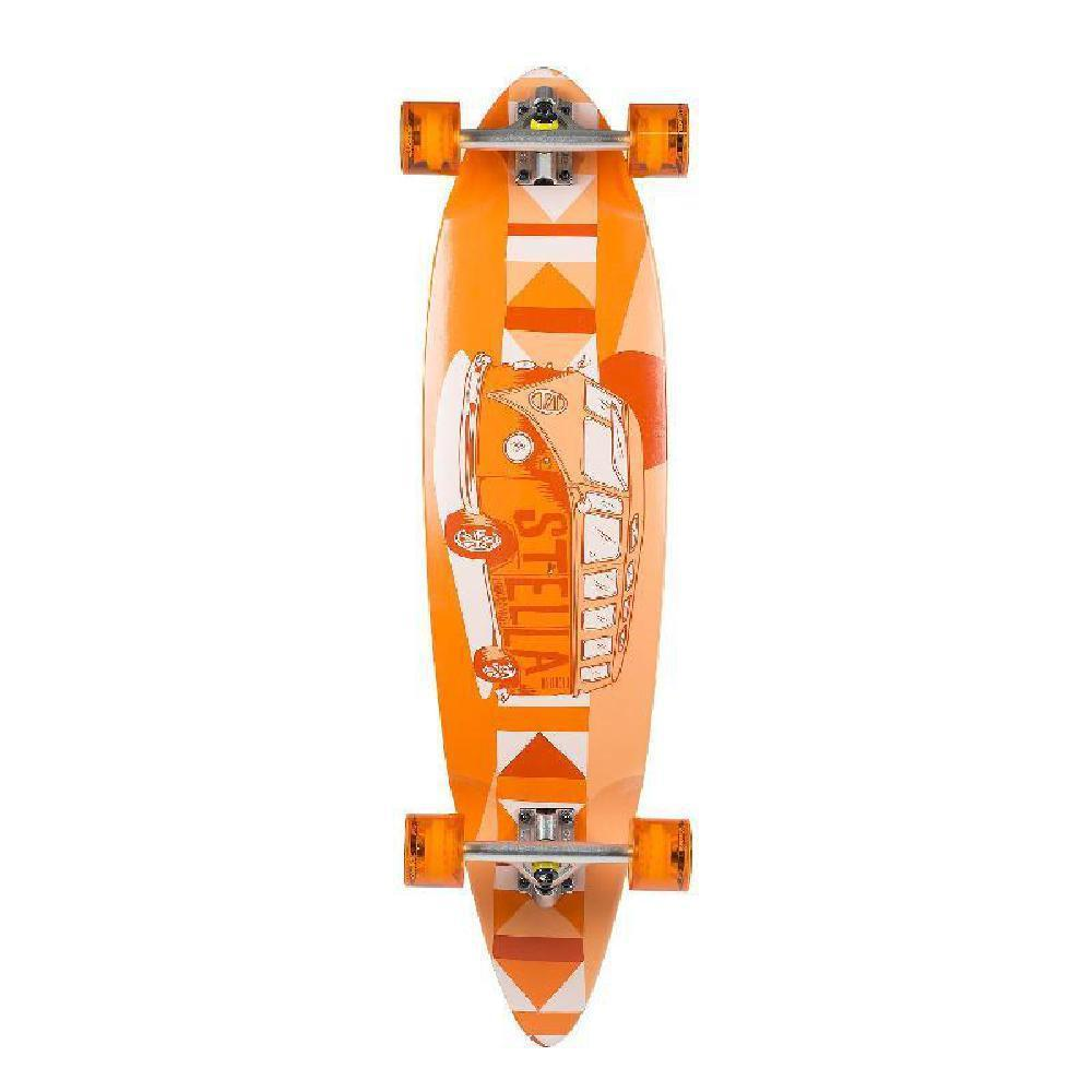 Stella Volkswagon Orange Blunt Nose Kicktail Cruiser Longboard - Longboards USA