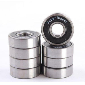 Super Blacks Longboard Skateboard Bearings - Longboards USA