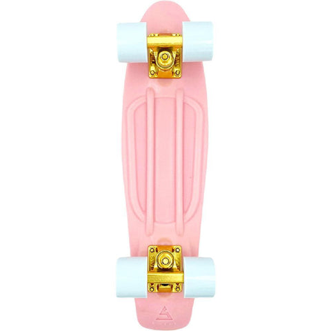 "Swell 22"" Complete Coral Pink Gold mini Skateboard - Longboards USA"
