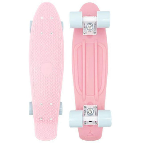 "Swell 22"" Complete Coral Pink White mini Skateboard - Longboards USA"