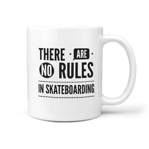 There Are No Rules in Skateboarding - Coffee Mug - Longboards USA