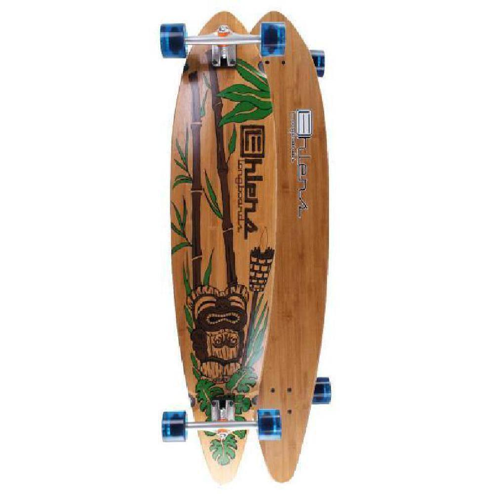 "Tiki 44"" Bamboo Pintail Longboard from Ehlers - Complete - Longboards USA"