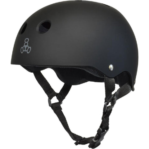Triple 8 Sweatsaver Black Matte Skateboard Longboard Helmet - Longboards USA