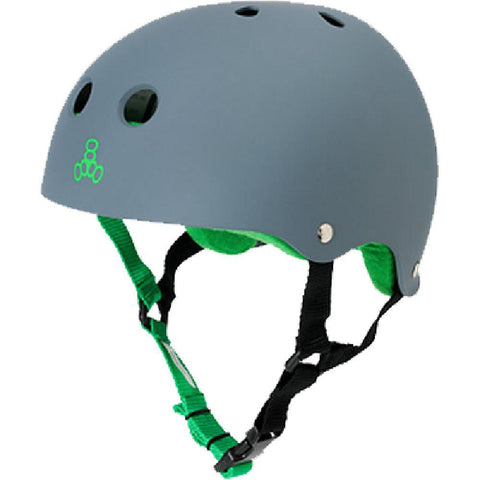 Triple 8 Sweatsaver Carbon Matte Green Skate Helmet - Longboards USA