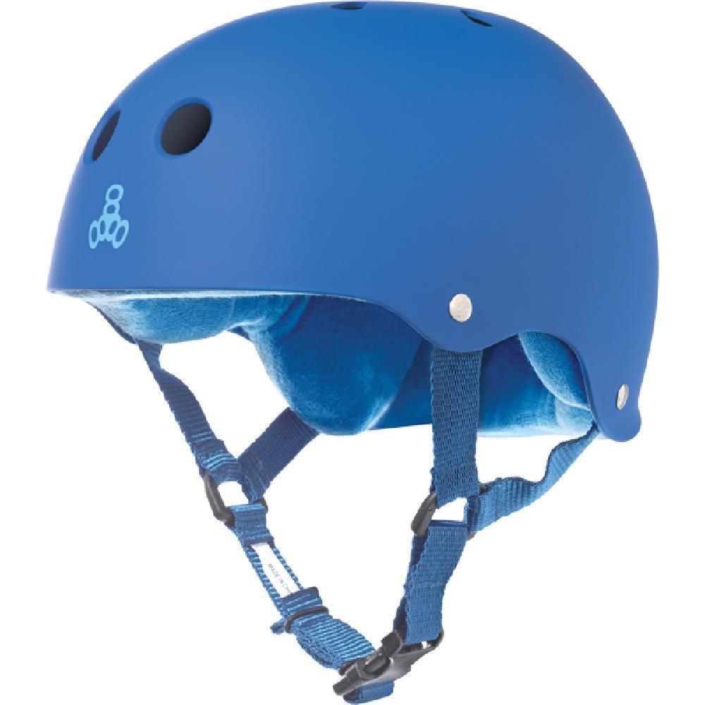 Triple 8 Sweatsaver Royal Rubber Skate Helmet - Longboards USA
