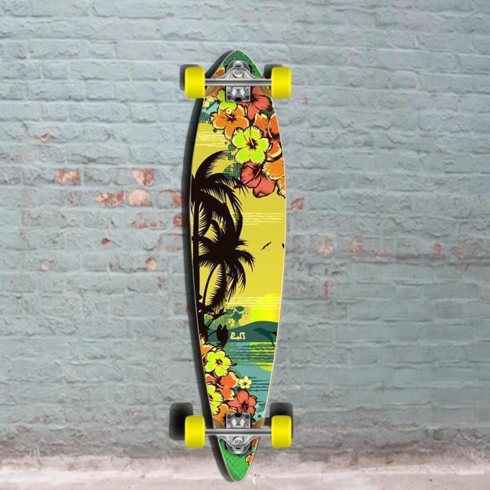 Tropical Day Pintail Longboard 40 inch from Punked - Complete - Longboards USA