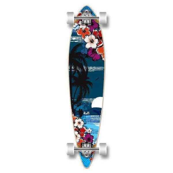 Tropical Night 40 inch Pintail Longboard from Punked - Complete - Longboards USA