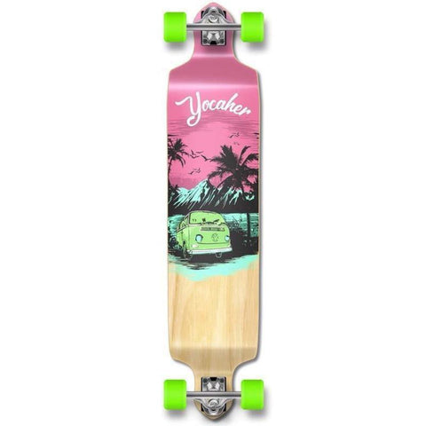 VW Pink N' Mint Drop Down Longboard 41 inches Complete - Longboards USA