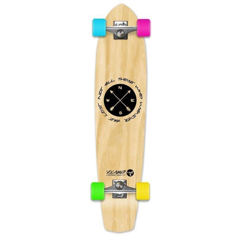 "Wander Natural 36"" Slimkick Longboard from Punked - Complete - Longboards USA"
