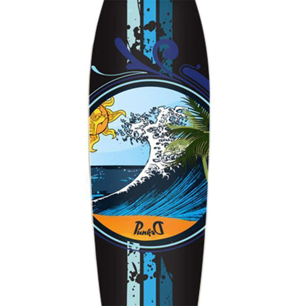 Wave Kicktail Longboard 40 inch from Punked Complete - Longboards USA