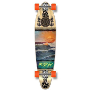 "Wave Scene 40"" Kicktail Longboard from Punked - Complete - Longboards USA"
