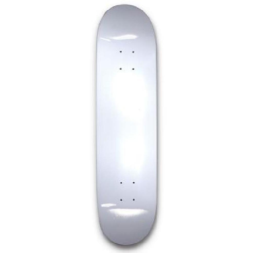 "White 31"" Dipped Skateboard Deck Blank - Longboards USA"