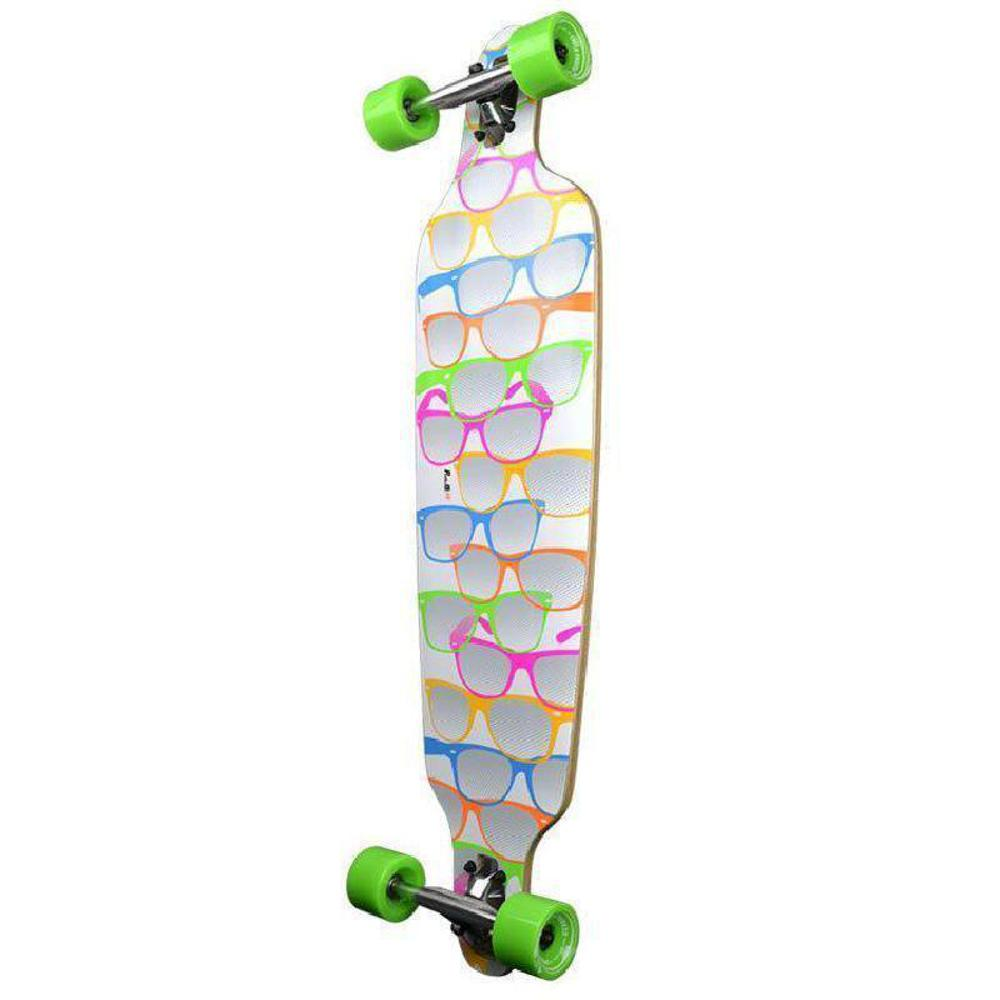 "White Shades Drop Through Longboard 40"" from Punked - Complete - Longboards USA"
