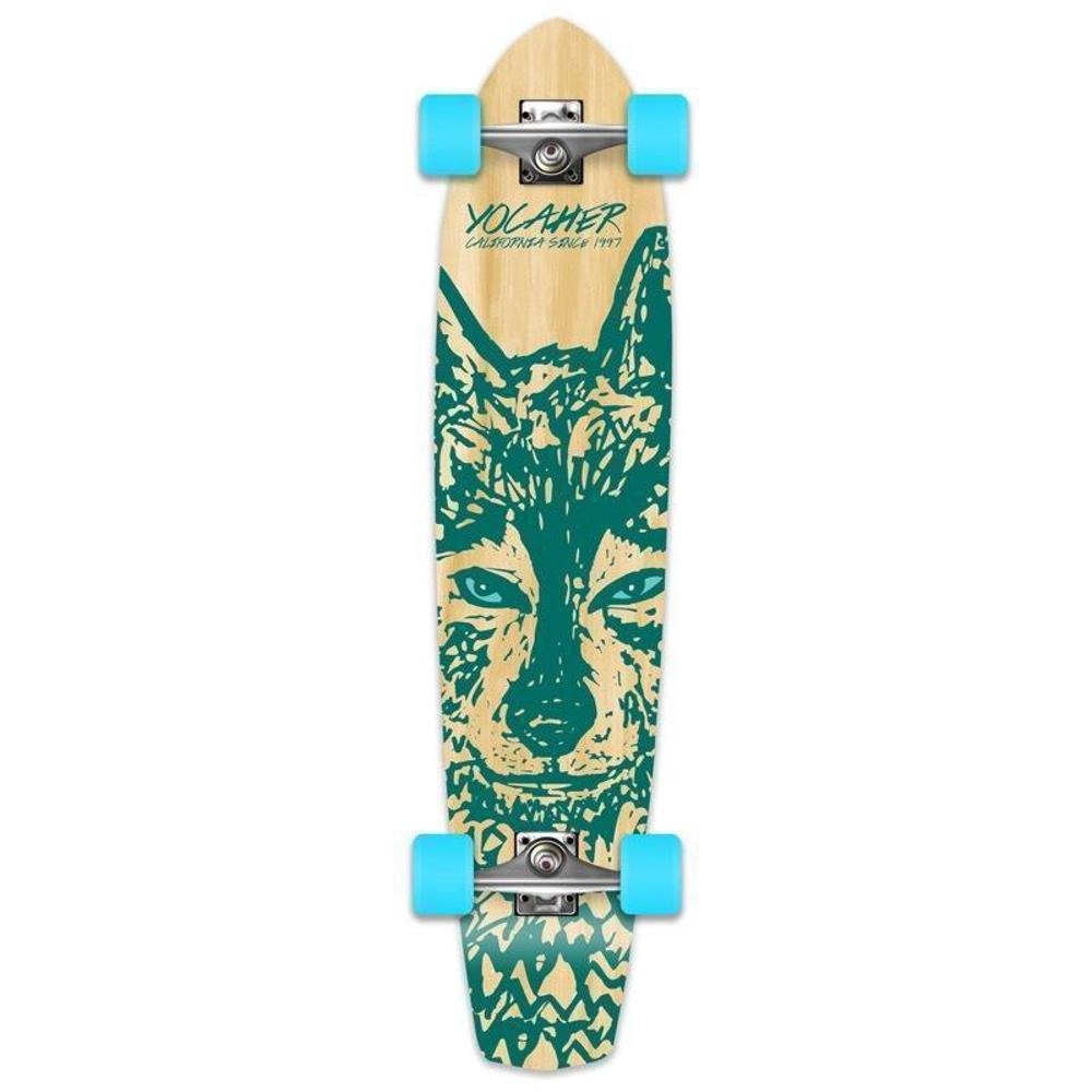 "Wolf 36"" Slimkick Longboard from Punked - Complete - Longboards USA"