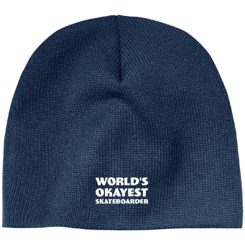 World Okayest Skateboarder Beanie - Longboards USA
