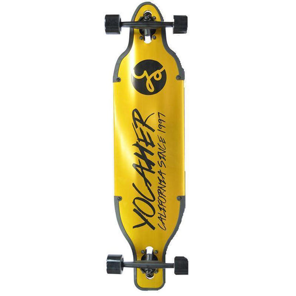 "Yocaher Aluminum Drop Through Yellow 36"" Longboard - Longboards USA"