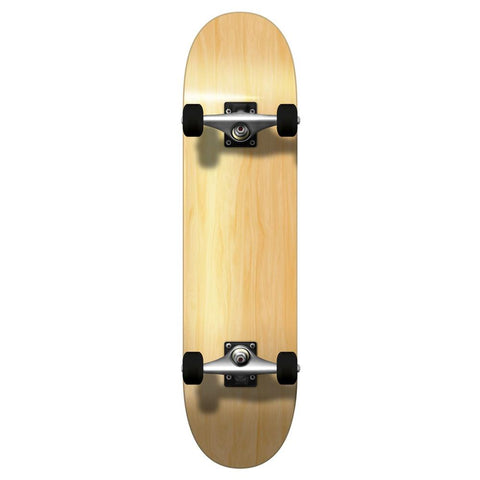 "Yocaher Blank Complete 7.75"" Skateboard - Natural - Longboards USA"