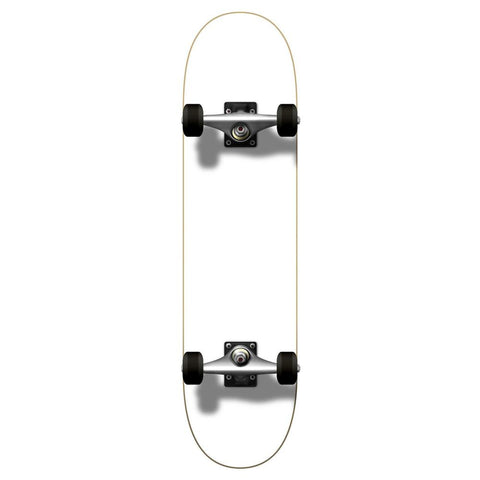 Yocaher Blank Complete Skateboard - Painted White - Longboards USA