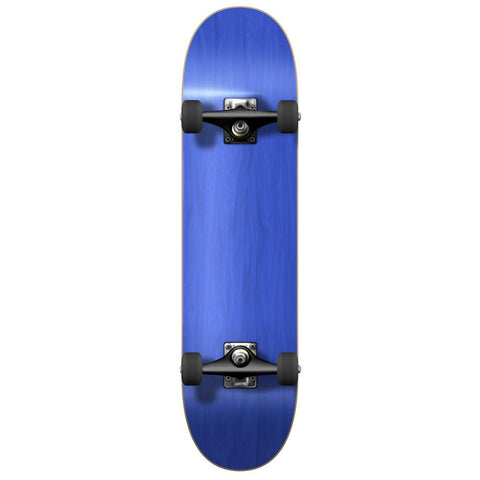 Yocaher Blank Complete Skateboard - Stained Blue - Longboards USA