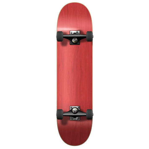 Yocaher Blank Complete Skateboard - Stained Red - Longboards USA