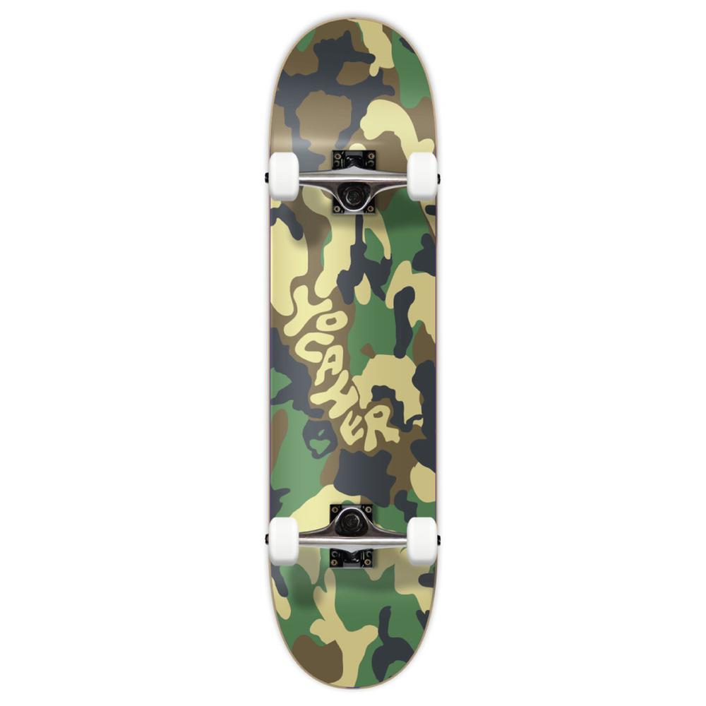 "Yocaher Complete 7.75"" Skateboard - Camo Series - Green - Longboards USA"