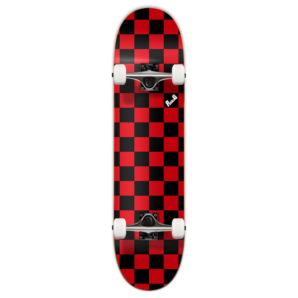 Yocaher Graphic Complete Skateboard - Checker Red - Longboards USA