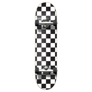 Yocaher Graphic Complete Skateboard - Checker White - Longboards USA
