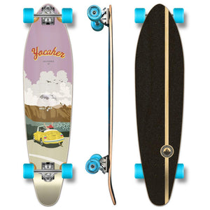 Yocaher Kicktail Longboard Complete - VW Bettle Series - Yellow - Longboards USA