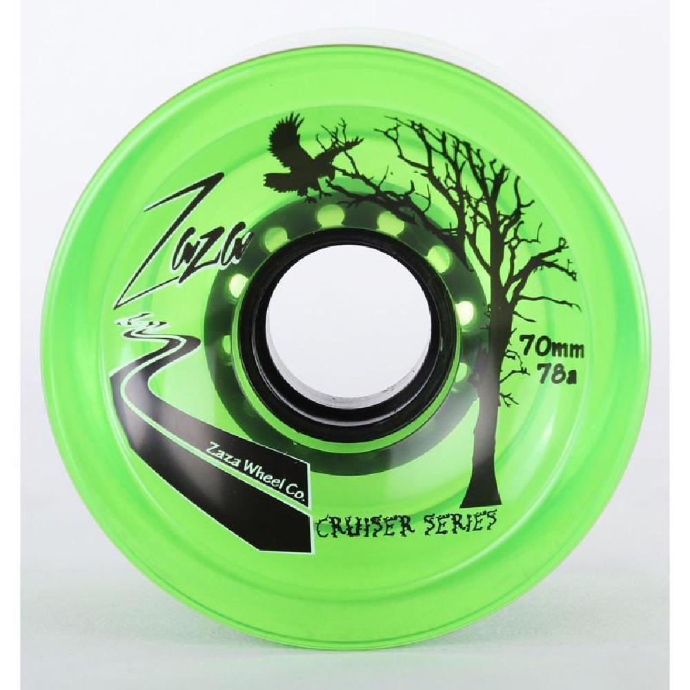Zaza Clear Green Longboard Skateboard Wheels 70mm 78a - Longboards USA