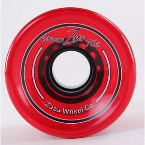 Zaza Longboard Cruiser Wheels 65mm - Clear Red - 78a - Longboards USA