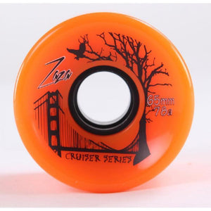 Zaza Longboard Cruiser Wheels 65mm - Orange - 78a - Longboards USA