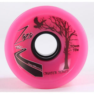Zaza Longboard Cruiser Wheels 70mm - Bright Pink - 78a - Longboards USA