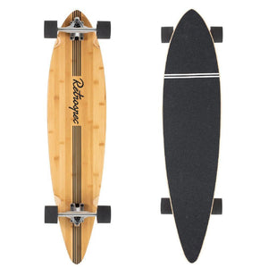 "Zed Black Pipeline 41"" Bamboo Pintail Longboard - Longboards USA"