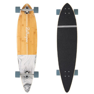 "Zed Whitecaps 41"" Bamboo Pintail Longboard - Longboards USA"