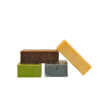 Load image into Gallery viewer, Carrot-Turmeric Kale-Parsley Chocolate-Lavender Charcoal-Clay Soaps Value Pack - 4 bars