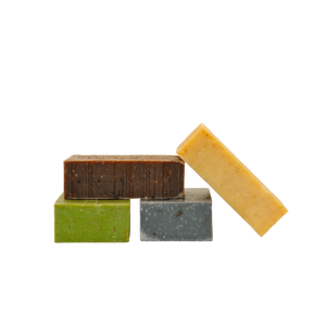 Carrot-Turmeric Kale-Parsley Chocolate-Lavender Charcoal-Clay Soaps Value Pack - 4 bars