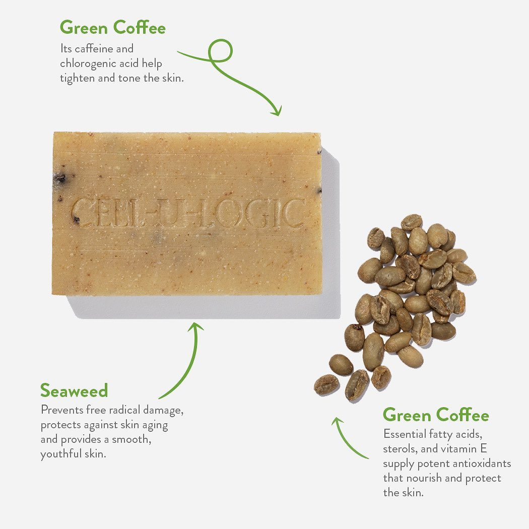 Green Coffee & Seaweed Exfoliating Soap