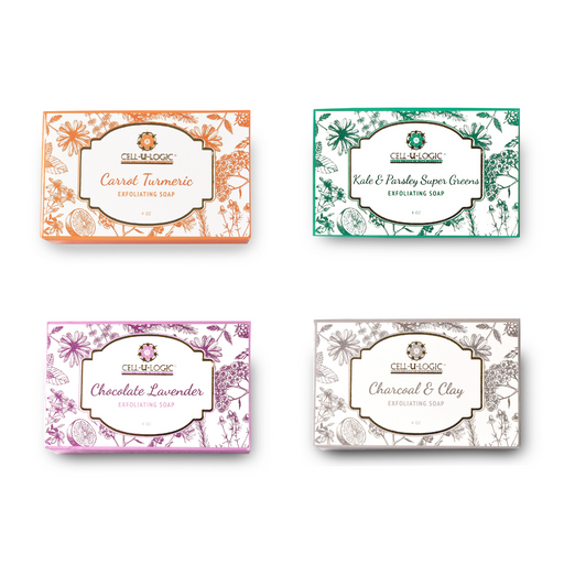 Turmeric Kale Chocolate Clay Soaps - 4 Pack