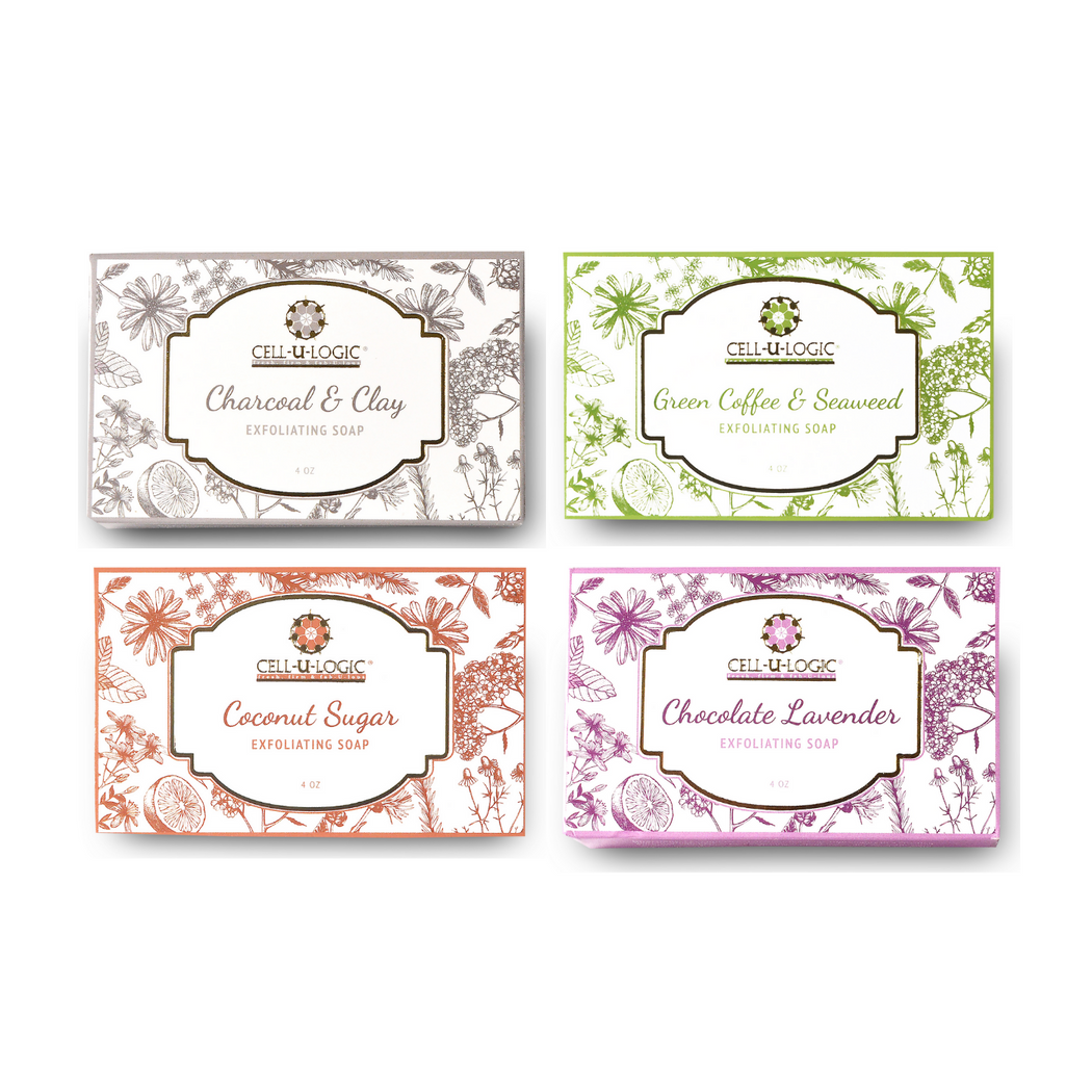 Clay Coffee Lavender Coconut Soaps - 4 Pack
